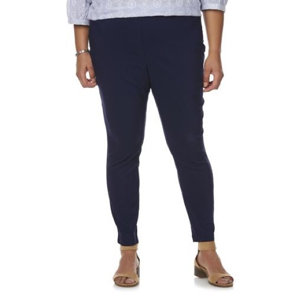 6790c720112 Basic Editions • Navy Millennium Ankle Pants 2X